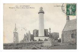 LE CONQUET  (cpa 29)  Sémaphore, Phare Et Ruines Saint-Mathieu  -   - L 1 - Le Conquet