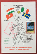 PALLACANESTRO FEMMINILE CARTOLINA  N. 263 CAMPIONATO EUROPEO UDINE 1966 - Volleyball