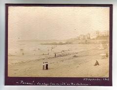 35 Paramé - Photographie Lavis  La Plage (vue Du Côté De Rochebonne) - 1 Septembre 1903 - Antiche (ante 1900)