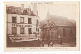 LE FAOUËT  (cpa 56)  L'Hôtel Du Lion D'or Et La Chapelle Des Ursulines  -   - L 1 - Le Faouet