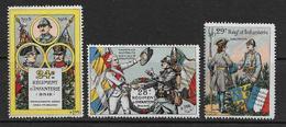 Vignettes Miltaires Guerre 14-18   3 Vignettes De L' Infanterie Neuves*. - Erinnophilie