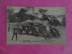 CPA AFRIQUE CONGO BELGE  ELISABETHVILLE  LES PREMIERS MOYENS DE TRANSPORT - Congo - Brazzaville
