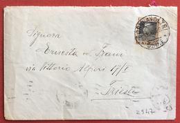 FORNI A VOLTRI Annullo Su BUSTA PER TRIESTE IL 4/8/28 - 1900-44 Vittorio Emanuele III