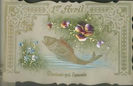 Carte Rhodoïd  -  Devinez Qui L'envoie   1er Avril  (poisson) - Fancy Cards