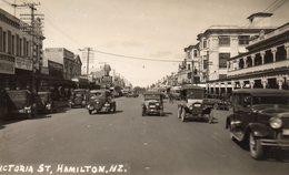 612Bc  Nouvelle Zelande Hamilton Victoria Street Tacots 1931 - New Zealand