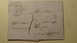 Buzancais Indre Cachet Type 12 Pour Chateauroux 1838 - Marcophilie (Lettres)
