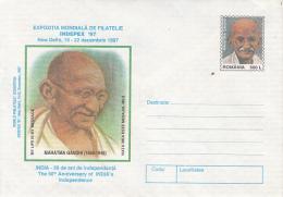 54272- MAHATMA GANDHI, COVER STATIONERY, 1997, ROMANIA - Mahatma Gandhi
