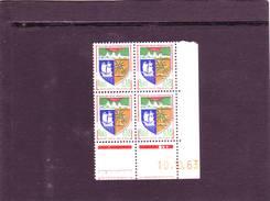 N° 1354A - 0,18F Blason De SAINT DENIS - A De A+B - 1° Tirage Du 1.10.63 Au 11.10.63 - 10.10.1963 - - 1960-1969