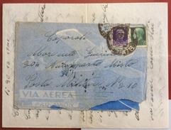 LA POSTA DURANTE LA GUERRA DUE SPLENDIDI AEROGRAMMI A MILITARE IN AFRICA COMPLETI DI LUNGHE LETTERE - 1900-44 Vittorio Emanuele III