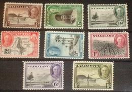 NYASALAND GEORGE VI ISSUES TO 9d MM - Nyasaland (1907-1953)