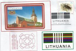 LITUANIE. Lettre Du Pavillon De Lituanie à L'EXPO MILANO 2015, Avec Timbre De Lituanie + Cachet EXPO - 2015 – Milan (Italy)