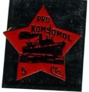 ESPAÑA VIÑETA  PRO KOMSOMOL 5C  GG 2458  REF V135 - Viñetas De La Guerra Civil