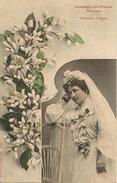 -CPA-1908-MARIEE-LANGAGE FLEURS-L ORANGER-TBE - Noces