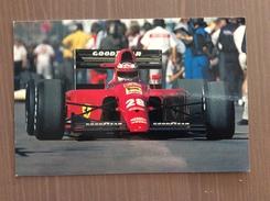 Cartolina Ferrari Stagione 1991 Con Annullo Sul Retro 7^ Mostra Filat. Tem. Ferrari Un Mito Diano Marina (IM) 1-9-1991 - Grand Prix / F1