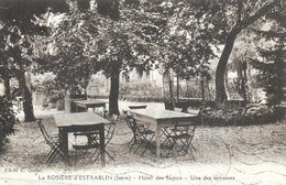 La Rosière D'Estrablin (Isère) - Hôtel Des Sapins, Une Des Terrasses En 1960 - Edition Blanchard - Hotels & Restaurants