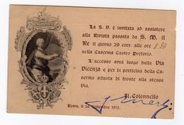 S6025 CARTOLINA MILITARE PIEMONTE REALE CAVALLERIA INVITO ALLA PRESENZA DEL RE CASERMA CASTRO PRETORIO. - Regimenten