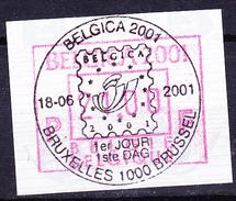 Belgien Belgium Belgique - Europhila (OBP FV 105) 2001 - Gest. Used Obl. - Postage Labels