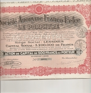 """S.A. Franco-Belge """"Le Porphyre"""" - Lessines - Actions & Titres"""