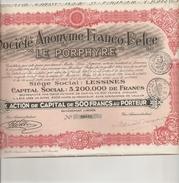 "S.A. Franco-Belge ""Le Porphyre"" - Lessines - Shareholdings"