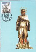 20947. Tarjeta Maxima GIRONA, Gerona 1984. Carlomagno, Carlemany