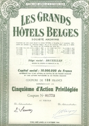 Les Grands Hôtels Belges - Groen - Actions & Titres