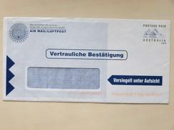 AUSTRALIA / AUSTRALIEN => (SWITZERLAND / SCHWEIZ) // Air Mail Cover, POSTAGE PAID - Postal Stationery