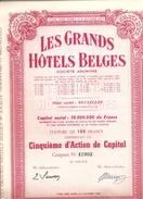 Les Grands Hôtels Belges - Rood - Actions & Titres