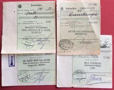 CORTINA D'AMPEZZO QUATTRO RICEVURE CON ANNULLI  AUSTRIACI DIVERSI DI CORTINA - 1900-44 Vittorio Emanuele III