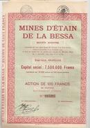 Mines D'Etain De La Bessa - 1925 - Mijnen