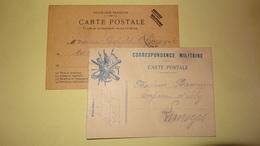 Lot De 2 Cartes Postales Correspondance Militaire Pour Limoges 1915 -1914 - 1914-18