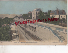 64 - PAU - VUE SUR LE BOULEVARD DES PYRENEES- BELLE CARTE COLORISEE 1904 - Pau
