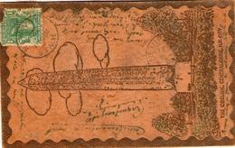 Curieuse Carte Postale U.S. EN CUIR Affrancie Et Taxee Pour LA FRANCE De 1902 - Covers & Documents