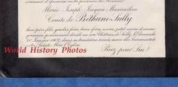 Document De 1908 - Château De SULLY Sur LOIRE - Marie Joseph Jacques Maximilien Comte De BETHUNE SULLY - Documents Historiques