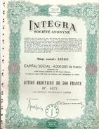 Integra  S.A. - Actions & Titres