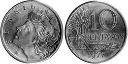 Brazil - 1977 - 10 Centavos - KM 578 - Unc - Brasilien