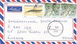 Zimbawe 1994 Mutare Barbel Catfish Fresh Water Fish Underfranked Taxed Cover - Zimbabwe (1980-...)