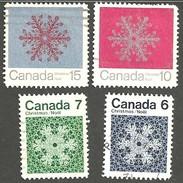 Sc. #554-57 Christmas Snowflakes Set Used 1971 K812 - 1952-.... Règne D'Elizabeth II