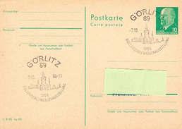DDR Sonderstempel Auf Postkarte (stationary) Görlitz - Altstadt, Architektur - [6] Oost-Duitsland