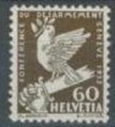 Svizzera 1932 N. 258 C. 60 Seppia MNH Cat. € 63 - Svizzera