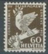 Svizzera 1932 N. 258 C. 60 Seppia MNH Cat. € 63 - Nuovi