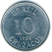 Brazil - 1988 - 10 Cruzados - KM 607 - Unc - Brasilien
