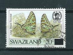 1990 Swaziland Overprint,vlinder,butterfly,papillon,schmetterlinge Used/gebruikt/oblitere - Swaziland (1968-...)