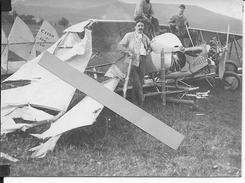 Avion Français Caudron G3 N° 1130 Accidenté Nose Art Trench Art Aviation 1 Photo 14-18 1914-1918 Ww1 Wk1 - Guerra, Militari