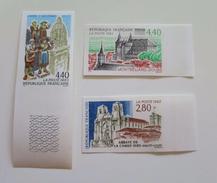ZFRn2825-7a - RARE - FRANCE 1993 - Superbe Série Touristique - N°2825/27a - Non Dentelés Neufs** - Qualité LUXE - Non Dentelés