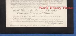 Document De 1894 - Château De BLAVETTE Par LE MESLE Sur SARTHE - Edith Marie Emilie De LIVOIS Comtesse Roger De BLAVETTE - Historische Dokumente