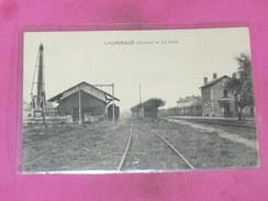 LHOMMAIZE  1910   ARDT MONTMORILLON / CANTON LUSSAC  /   LA GARE  COTE VOIES - Other Municipalities
