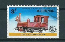 1976 Kenia 3'sh Railways,trains,treinen Used/gebruikt/oblitere - Kenia (1963-...)