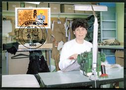 "Germany,Berlin1987 Maxicart,MC Mi.Nr.782 ""Handwerksberufe,Kürschner,Jugendmarke"" 1MK Used - Factories & Industries"