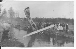 Avion De Chasse Français SPAD VII (n°2323 / 6) Crashé Dans Un Cour D'eau Au Décollage Ou à L'attérissage 1 Photo 14-18 - War, Military