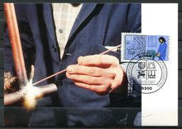 """Germany,Allemagne 1987 Maxicart,MC Mi.Nr.1315 """"Handwerksberufe-Installateur,Klempner,Schweisser"""" 1MK Used - Factories & Industries"""